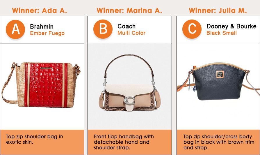 Soiree Bag Winners